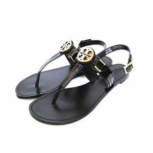 Tory Burch Cassia Flat Thong Sandal Leather